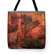 Spider Rock Sunset Tote Bag