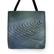 Spider Web With Dew Tote Bag