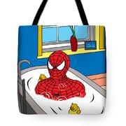 Spiderman  Tote Bag by Mark Ashkenazi