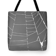 Spiderweb Bw Tote Bag
