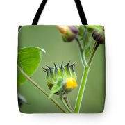 Spiky Green Wild Flowers Tote Bag
