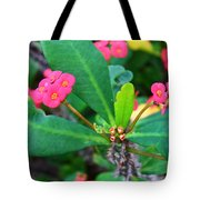 Spiky Pink Flowers Tote Bag