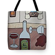 Essence Of Home - Spilt Wine Tote Bag