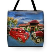 Spin A Yarn Car Show Tote Bag