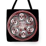 Spinning Celtic Skulls Tote Bag