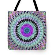 Spinning Colors Mandala Tote Bag
