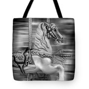 Spinning Horses Tote Bag