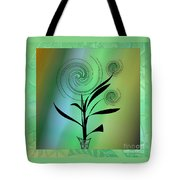 Spinning Plant Tote Bag