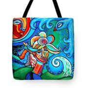 Spiral Bird Lady Tote Bag by Genevieve Esson