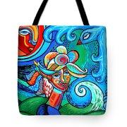 Spiral Bird Lady Tote Bag