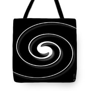 Spiral Black Tote Bag