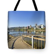 Spiral Bridge Walkway To The Esplanade Tote Bag
