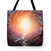 Spiral Glow Tote Bag