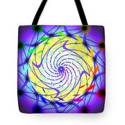 Spiral Light Hexagon Tote Bag