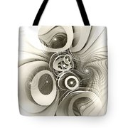 Spiral Mania 2 - Black And White Tote Bag