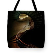 Spiral Staircase In Green And Red Tote Bag