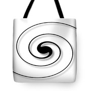 Spiral White Tote Bag