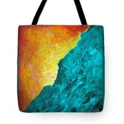 Spirit Dog And Sitting Buddha Or Red Sky In The Morning Tote Bag