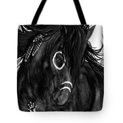 Spirit Feathers Horse Tote Bag