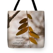 Spirit Is Life Tote Bag