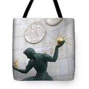 Spirit Of Detroit Monument Tote Bag