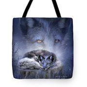 Spirit Of The Blue Fox Tote Bag
