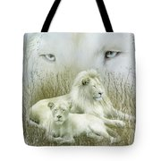 Spirit Of The White Lions Tote Bag