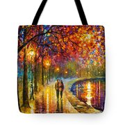 Spirits By The Lake - Palette Knife Oil Painting On Canvas By Leonid Afremov Tote Bag