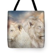 Spirits Of Light Tote Bag by Carol Cavalaris