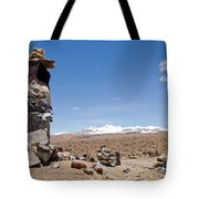 Spiritual Cairn In The Peruvian Altiplano Tote Bag