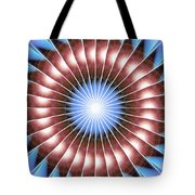 Spiritual Pulsar Kaleidoscope Tote Bag by Derek Gedney