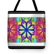 Spirituality - Life Lights - Kaleidoscope - Triptych Tote Bag