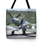 Spitfire On Takeoff Standby Tote Bag