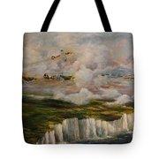 Spitfire's Over Dover Tote Bag