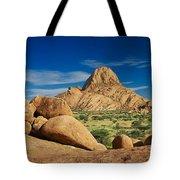 Spitzkoppe Mountain Landscape Of Granite Rocks Namibia Tote Bag