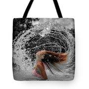Hair Flip Splash Tote Bag