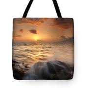 Splash Of Paradise Tote Bag by Mike  Dawson