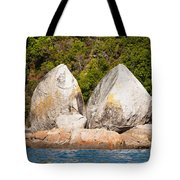 Split Apple Rock Near Abel Tasman Np In New Zealand Tote Bag