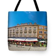 Split Historic Square Panoramic View Tote Bag