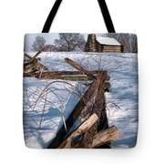 Split Rail And Nation Tote Bag
