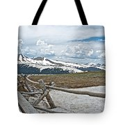 Split Rail Fence Near Alpine Visitor's Center In Rocky Mountain Np-co Tote Bag
