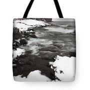 Split Rock Lighthouse Winter 17 Tote Bag