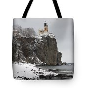 Split Rock Lighthouse Winter 19 Tote Bag