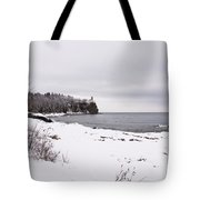 Split Rock Lighthouse Winter 7 Tote Bag