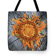 Split Sunflower Tote Bag