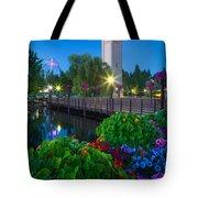 Spokane Clocktower By Night Tote Bag