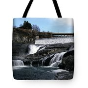 Spokane Falls At Low Tide Tote Bag