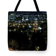 Spokane Washington Skyline At Night Tote Bag