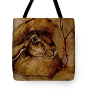 Spooked Hare Tote Bag
