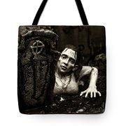 Zombie Lady Sepia Tote Bag